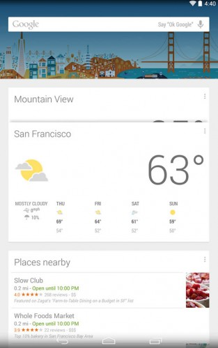 google now launcher voice search