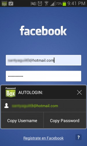 passwordbox aplicacion facebook