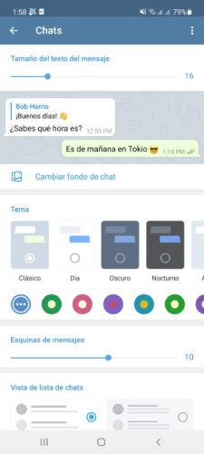 telegram chat personalizar