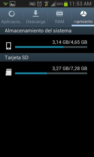 Almacenamiento del sistema Android - Memoria Interna y Externa