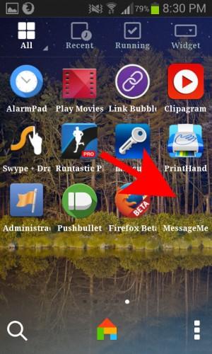 aplicacion de firefoxOS en cajon de apps de android