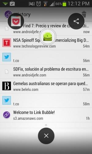 compartir bubble