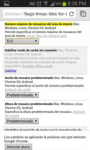 reiniciar chrome android