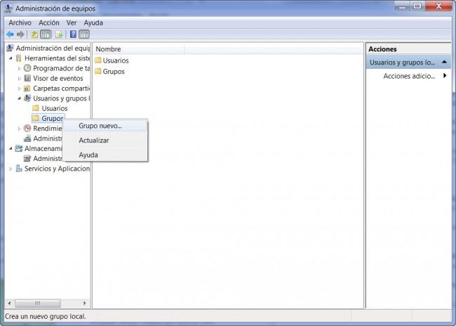 administración de equipos windows