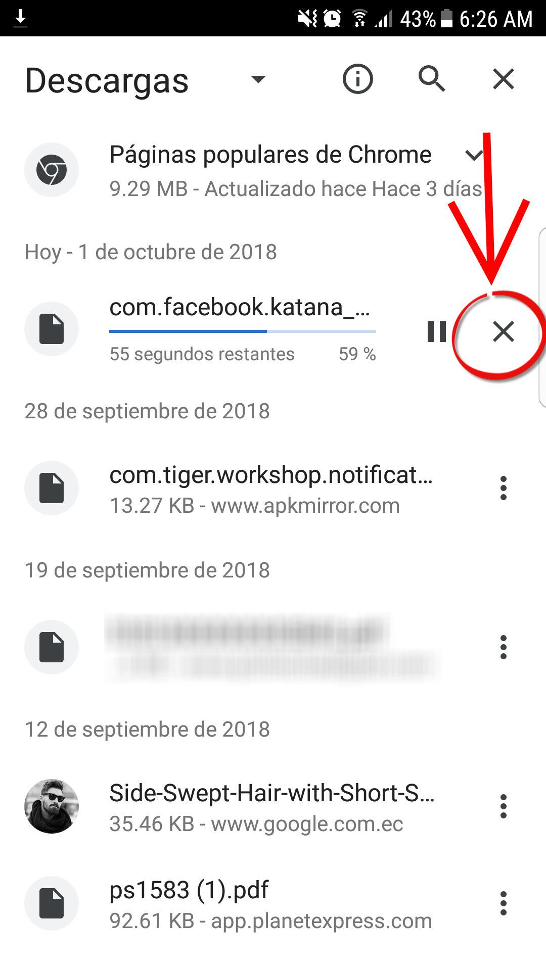 Cómo cancelar una DESCARGA en Android