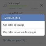 Cómo cancelar las descargas de Chrome, Dolphin y Google Play
