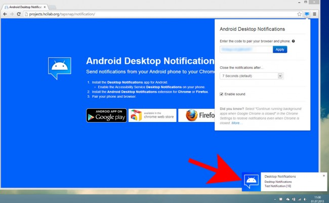 desktop notifications prueba