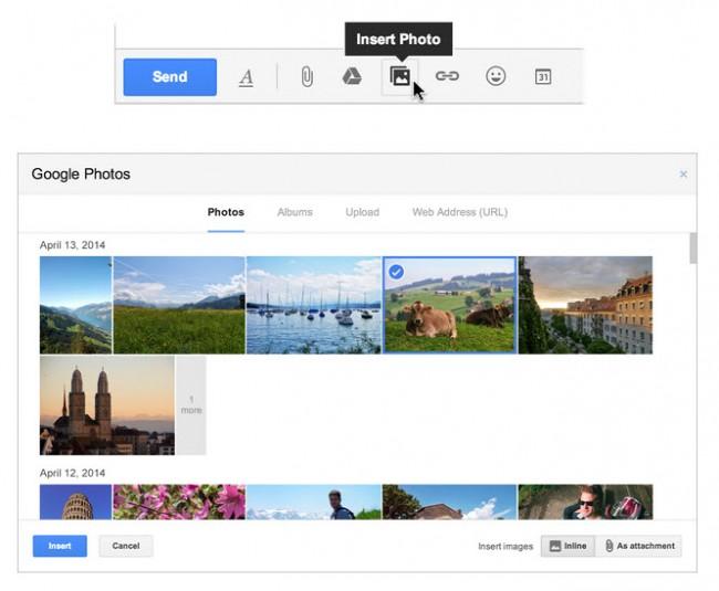 Enviar fotos por Gmail - Google Fotos soportado