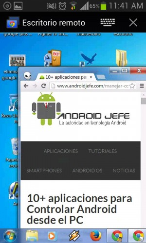 escritorio remoto chrome android