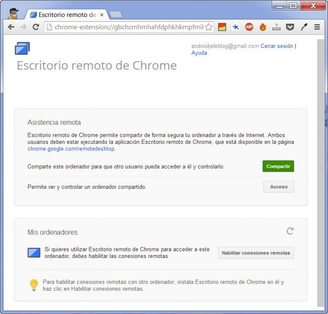 escritorio remoto de chrome 2