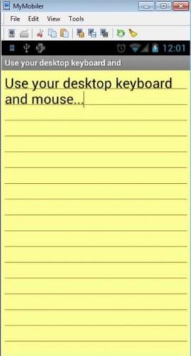 controlar android con teclado y mouse
