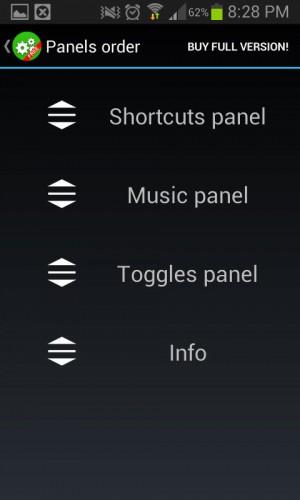 paneles quick control