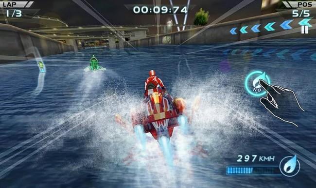 carreras de motos de agua 3d