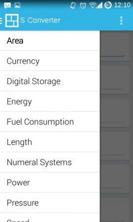 conversor unidades android
