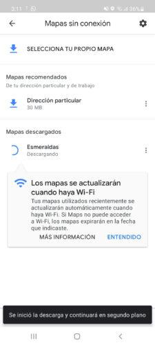 descargando mapa google maps