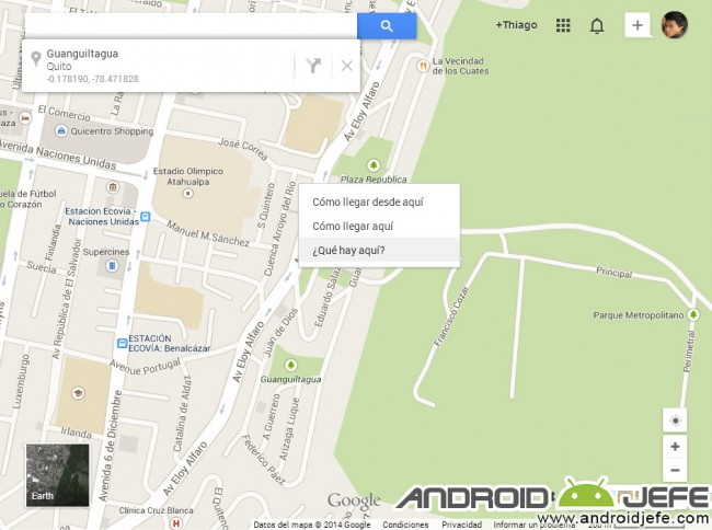 encontrar coordenadas google maps