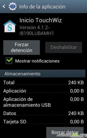 """Forzar detención de Launcher """"TouchWiz"""" en un Samsung Galaxy S3"""