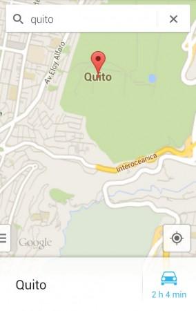 google maps buscar lugar
