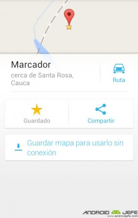 google maps guardar lugar