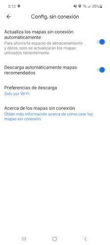 google maps sin internet ajustes