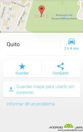 guardar mapa google maps