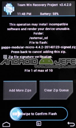 instalar gapps twrp recovery