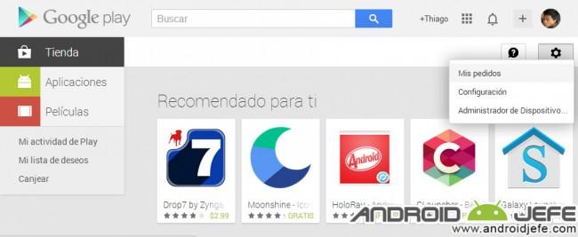 mis pedidos google play
