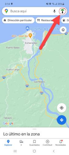 opciones google maps