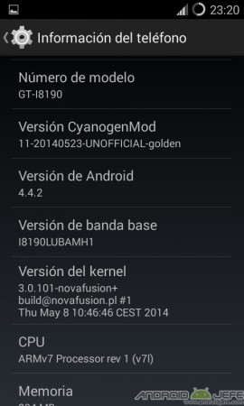 s3 mini android 4.4.2