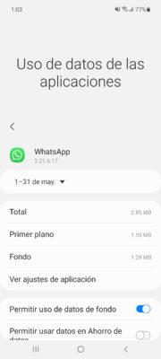 uso de datos whatsapp
