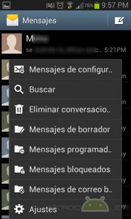 ajustes mensajes