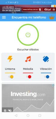 app encontrar celular por silbido luz o movimiento
