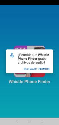 app encontrar celular por silbido permiso