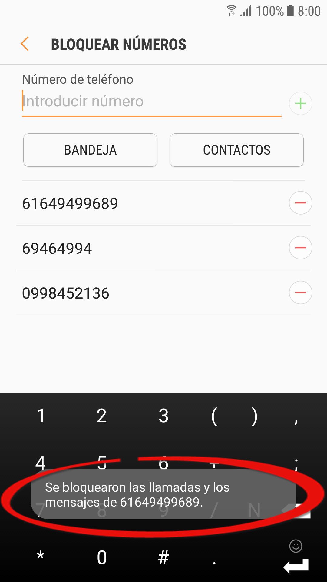 Cómo bloquear SMS y llamadas en Android (EJ: Samsung)