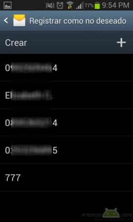 bloquear mensajes samsung
