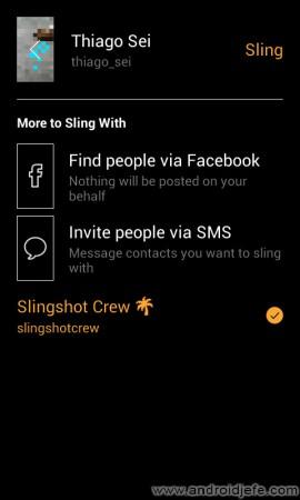 compartir sling foto con slingshot