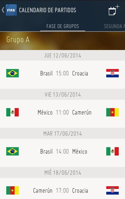 4 aplicaciones del mundial Brasil 2014 • Android Jefe