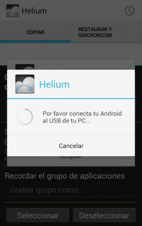helium backup sin root