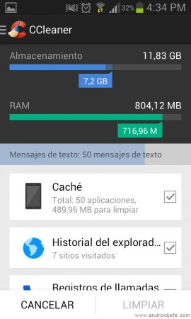 limpiar android ccleaner