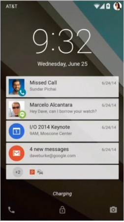 notificaciones lockscreen android l