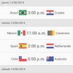 4 aplicaciones del mundial Brasil 2014, para saber toda la información