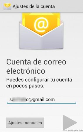 agregar cuenta correo nexus