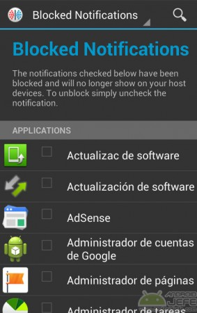 bloquear notificaciones moaxis app android