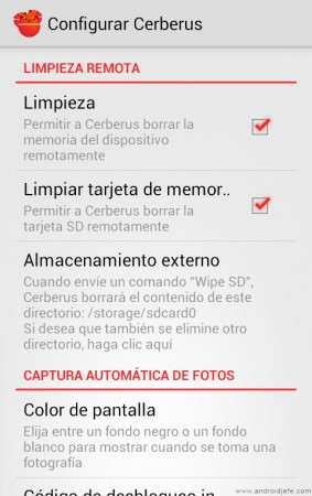 cerberus app android configurar cerberus español