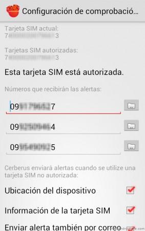 cerberus app android tarjetas sim