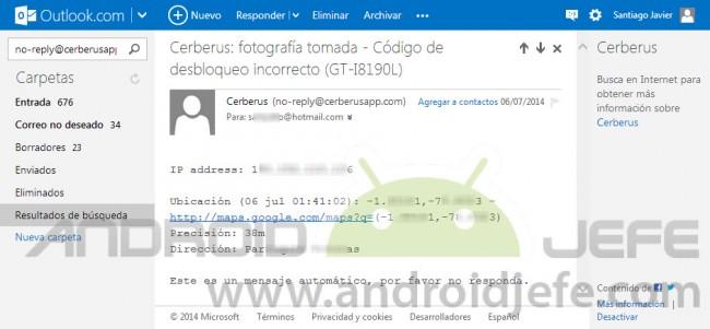 cerberus app android ubicacion google maps