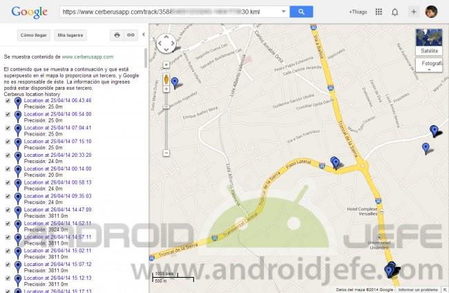 cerberus app android ubicaciones celular