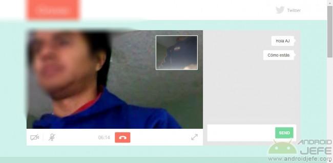 Gruveo videollamada desde el PC (Chrome)