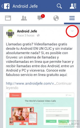 guardar publicacion facebook