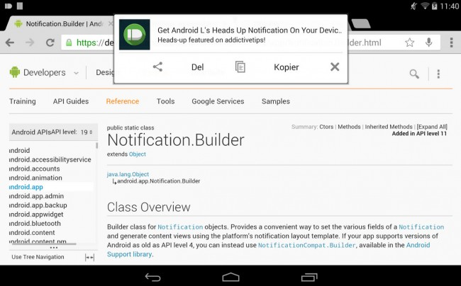 heads-up notificaciones android l app 2